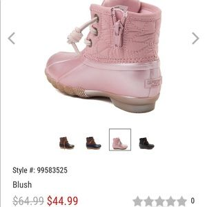 Sperry Top Sider Saltwater Boots blush pink